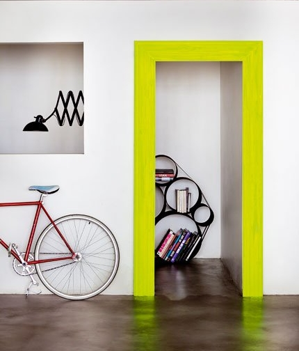 Fluo door frame