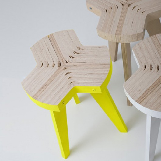 Offset stool by Giorgio Biscaro