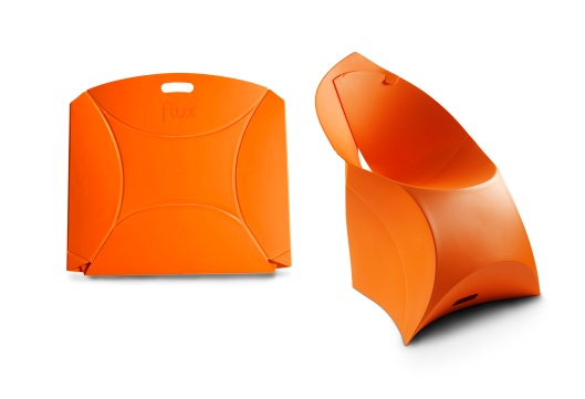 Flux foldable chair orange