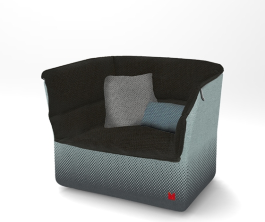 Coat armchair for Moroso by Sebastian Herkner
